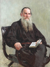 Portrait of Lev Tolstoy by Ilya Repin (1887)
